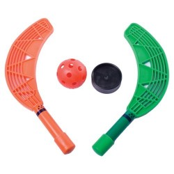 SET MINI-HOCKEY. Set de 10 palas, una pelota y una pastilla