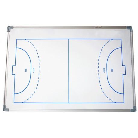 PIZARRA DE FUTBOL SALA/BALONMANO. Cerco de aluminio. Incluye fichas magneticas y rotulador. 45x60cm
