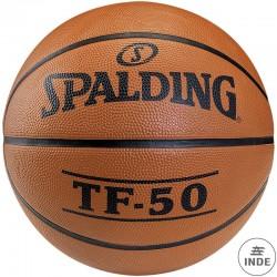 BALÓN MINIBASKET SPALDING TF-50 Nº5. Outdoor. Caucho naranja. Excelentes caracteristicas de durabilidad y juego.