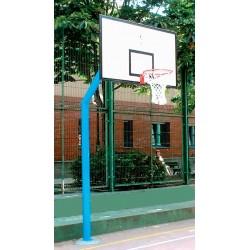 JUEGO CANASTAS BALONCESTO, mod. INDE, 1 COLUMNA tubo de 140x4 ó 120x120x4 mm., EMPOTRABLES. Tableros de madera