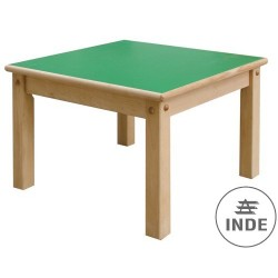Mesa. Estructura en madera de haya maciz. Medidas 60x60cm. Altura 40cm