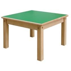 Mesa. Estructura en madera de haya maciz. Medidas 60x60cm. Altura 59cm