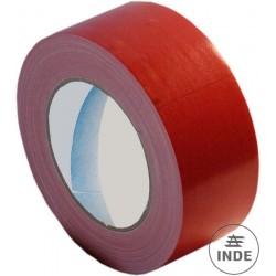 CINTA ADHESIVA roja para marcaje de greca en tapiz. Largo 25 m