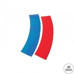 CURVAS DE CAUCHO. 5 rojas y 5 azules. Longitud 365 mm