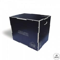 Plyo box de madera antideslizante. Medida oficial: 50,8x60,9x76 cm. Requiere montaje