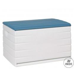 Baul de resinas plásticas. Robustos y resisten Medidas: 120 cm (ancho) x 61 cm (largo) x 53 cm (alto).