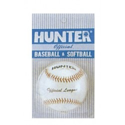 PELOTA DE BASEBALL HUNTER, piel natural.
