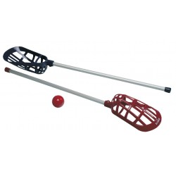 SET LACROSSE competición. Silicona: 6 sticks rojos, 6 azules y 6 pelotas.