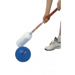 JUEGO BALL BOUNCER: set de 12 sticks con grips de agarre y bola de piel de elefante Ø190mm.