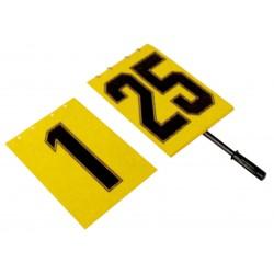 LIBRO DE CAMBIOS, con mango. Doble numeración del 1 al 25 en hoja de 34x23.5cm.