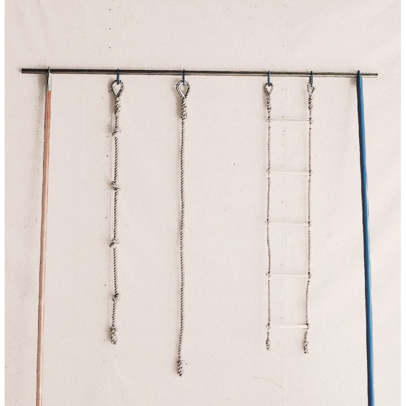 escalera marina cuerdas de camo y barras de madera largo m