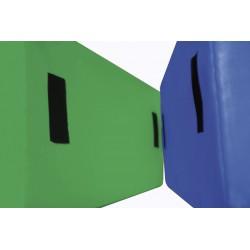 Set de 10 velcros autoadhesivos de 10x4cm