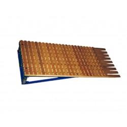 TRAMPOLÍN de rejas con muelles. Madera de haya. 140x60x20 cm.