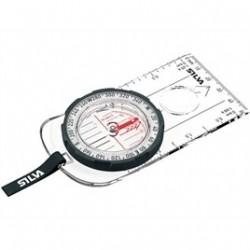 BRÚJULA SILVA FIELD , escalas de mapa 1:50 y 1:25 k, escalas de declinación en el interior de la cápsula,