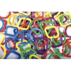 Anillas engarzables gemoetricas.Set de 60 piezas.