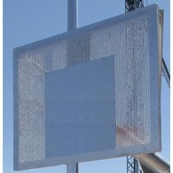 JUEGO TABLEROS MINIBASKET ANTIVANDALICOS. Fabricados en chapa metalica perforada de 4mm. Según norma EN-1270