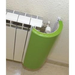 Protector para esquina de radiador plano,set de 2 piezas,PVC poliester ignifugo.