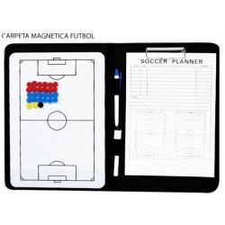 CARPETA TACTICA MAGNETICA  PARA FUTBOL. Tipo vileda. Incluye portafolios, boligrafo, rotulador y fichas magneticas