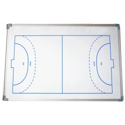PIZARRA DE FUTBOL SALA/BALONMANO. Cerco de aluminio. Incluye fichas magneticas y rotulador. 60X90cm