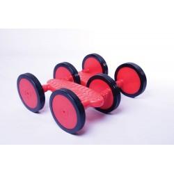 PEDALO. Con 6 ruedas antideslizantes. Medidas: 41x35cm. Diametro de rueda 15cm. Peso 2,5 Kg. Peso maximo del usuario 90 Kg