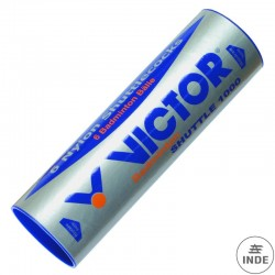 Tubo de 6 VOLANTINES BÁDMINTON VICTOR 1000. corcho y nylon.