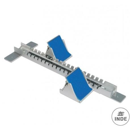 APOYO SALIDA CARRERAS COMPETICION. Certificado por la IAAF. Fabricado en fundicion de aluminio de 82mm