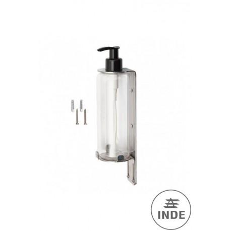 Soporte dosificador de acero inox. Incluye botella de 300 ml