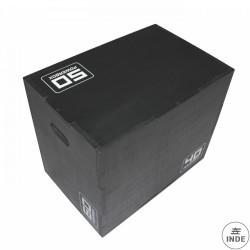 Plyo box de madera antideslizante. Medida: 40x50x60 cm. Requiere montaje