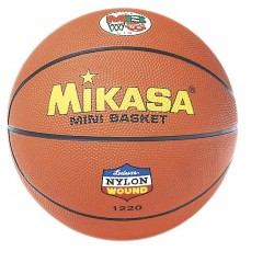 BALÓN MINIBASKET MIKASA 1220, caucho indeformable, naranja.