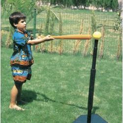 BATTING TEE. Soporte de caucho para entrenamiento del bateo de basseball. Base lastrada, regulable en altura.