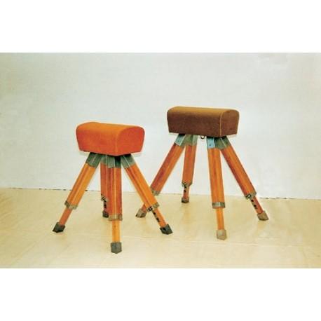 POTRO senior, tapizado en cuero natural. Largo 60 cm. Regulación cada 5 cm.. 90 a 135 cm.