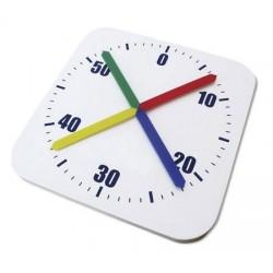 Reloj cronómetro de piscina. Poliester. Medidas: 80x80 cm